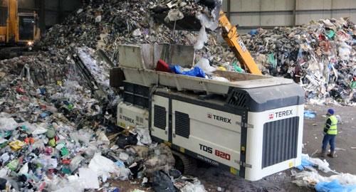 Planta Móvil de Trituración de Residuos y Voluminosos